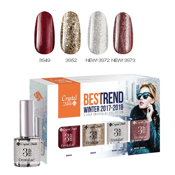BesTrend Winter 2017 3Step CrystaLac Készlet - 4x4ml