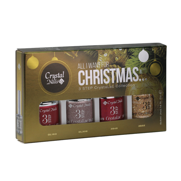 All I Want For Christmas 2015 3Step CrystaLac Készlet - 4x4ml