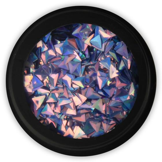 3D Triangle Flitter - Turquoise