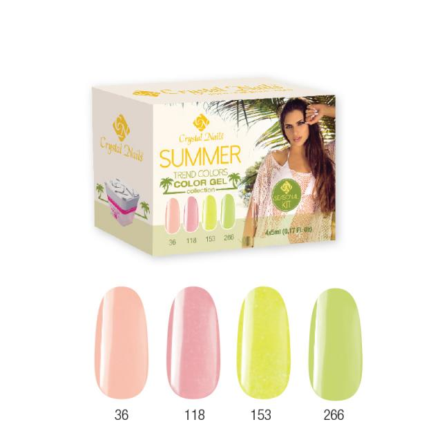 Trend Colors Summer Color Gel 2015 készlet 4x5ml