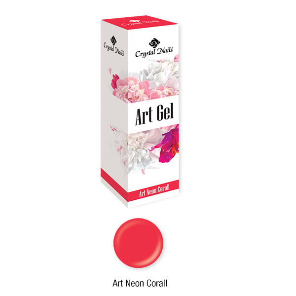 Art Gel Neon Korall - 5ml