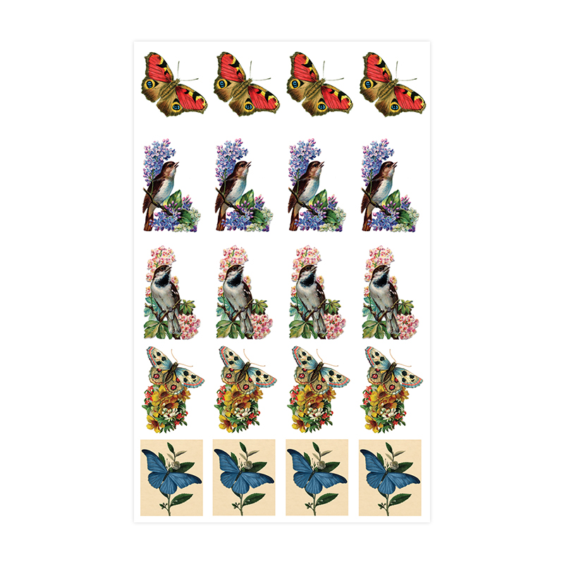 Baroque Sticker - Birds & Butterflies