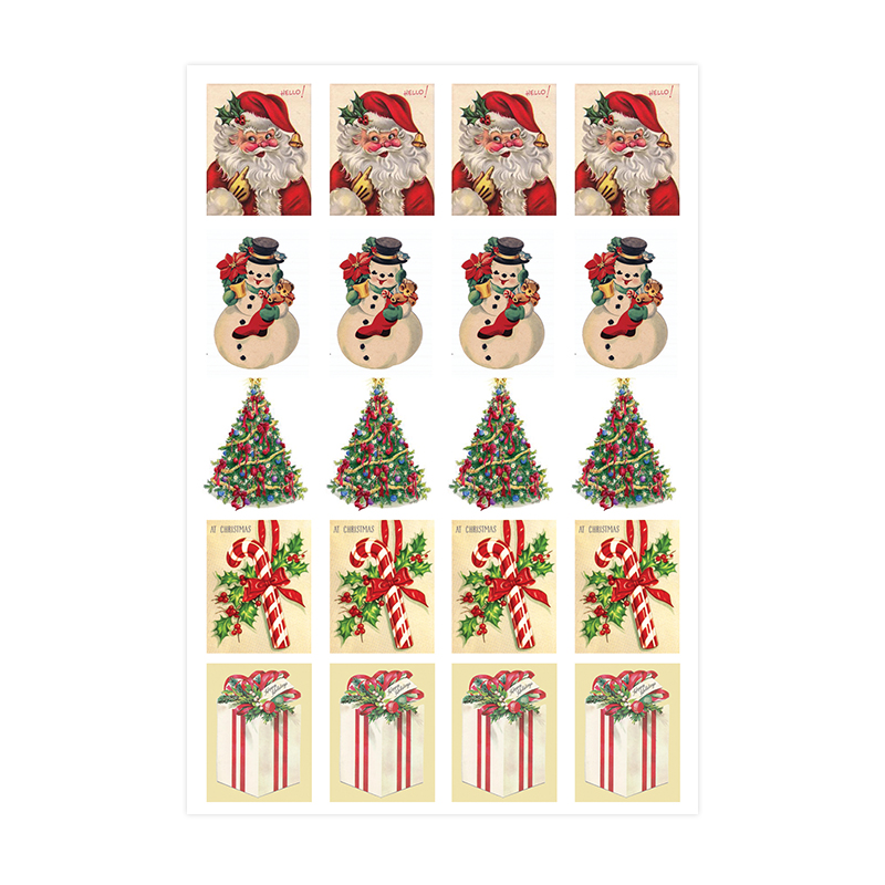 Baroque Sticker - Christmas