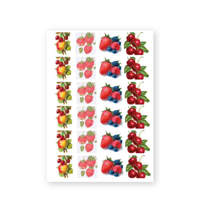 Baroque Sticker - Fruit