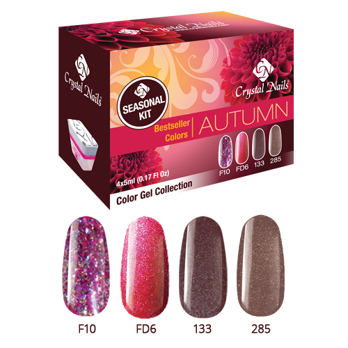 Bestseller Colors Autumn Color Gel készlet 4x5ml
