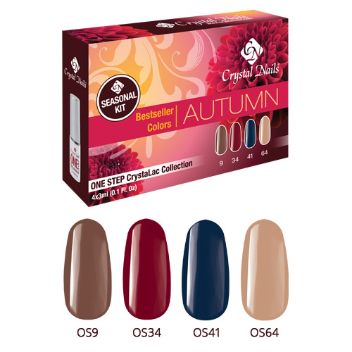 Bestseller Colors Autumn One Step CrystaLac Készlet 4x3ml