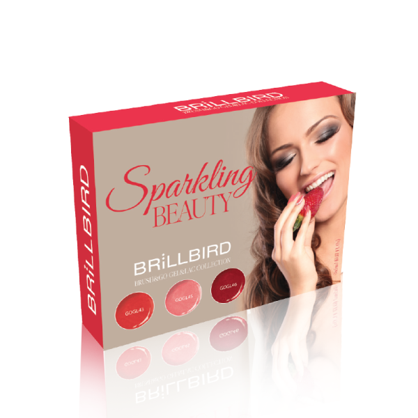 BrillBird Sparkling Beauty Brush&Go Gel&Lac Készlet - 3x5ml
