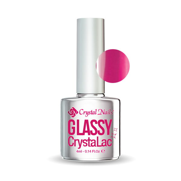 Neon Pink Glassy CrystaLac - 4ml