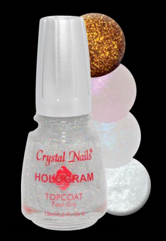 Hologram Topcoat - 15ml Blue