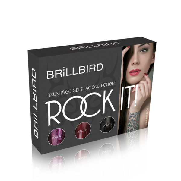 BrillBird Rock it Brush&Go Gel&Lac Készlet - 3x5ml