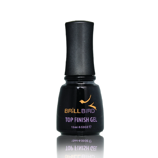 BrillBird Top Finish Gel Fixálós Fény - (Sárgulásmentes) 15ml