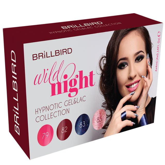 BrillBird Wild Night Hypnotic Gel&Lac Készlet - 4x4ml